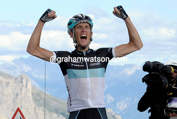 Andy Schleck wins stage eighteen to the summit of the Col du Galibier - and he might take over the race-lead..!