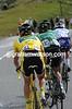 Voeckler is going backwards on the Galibier - but he has a few friends pacing him along...