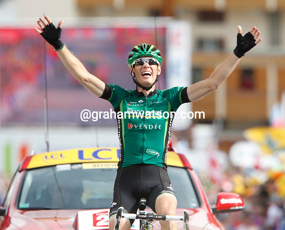 Pierre Rolland wins stage nineteen to the Alpe d'Huez - it is the first French stage-win of this Tour..!