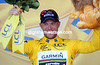 Garmin's day got even better when Thor Hushovd took the leader's Yellow Jersey..!