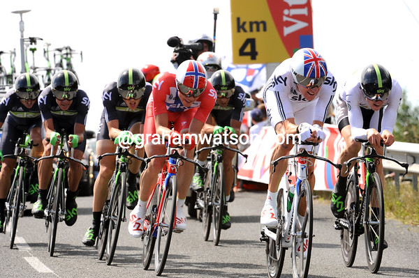 Team Sky took 3rd at four seconds, with Wiggins, Thomas and Boasson-Hagen by far the strongest...
