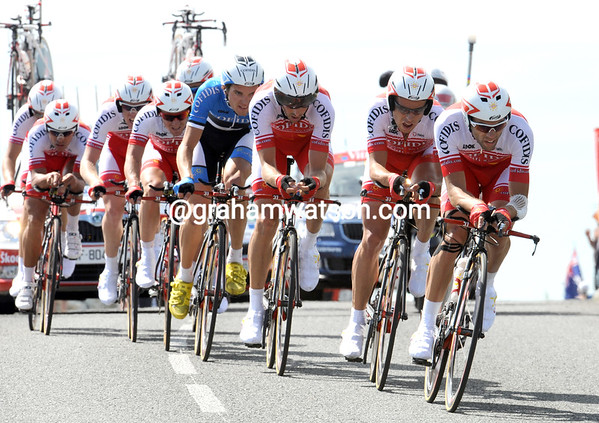 "Cofidis looked good, but ended in 21st place, 1' 20"" down on the winners..."