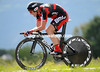 Cadel Evans blitzed the course to take second-place...