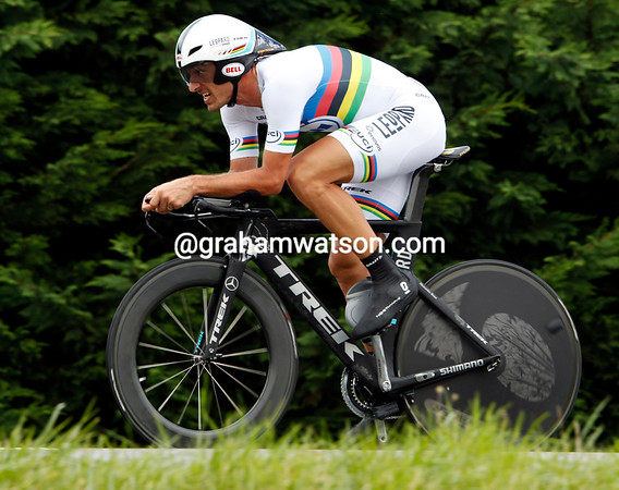 Fabian Cancellara led from early-on but ended the stage in 5th place...