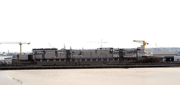 It might look ugly, but this will one day become a massive cruise-liner - and it as made at St Nazaire..!