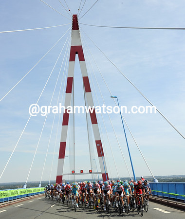 The true scale of St Nazaire's bridge is impossible to define...