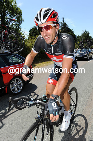 Fabian Cancellara looks happy today, maybe his team's excellent TTT yesterday signals a run of good form..?