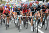 The peloton starts to launch its last-20-kilometre assault - led by Leopard-Trek and Stuart O'Grady...