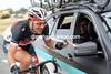 Fabian Cancellara is trying to amuse himself before the real racing begins...