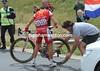 Julian El Fares gets a lightening-fast wheel change...