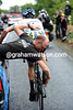 David Millar needs his bike seeing to after a small fall...