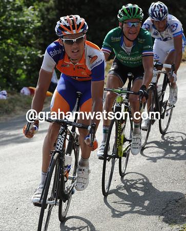 Sanchez leads what is now a trio of escapers into the last 25-kilometres...