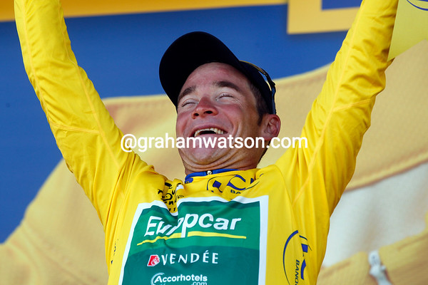 It's a dream come true: Thomas Voeckler is the race-leader of the Tour de France - seven years after he last wore it in 2004..!