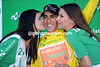 The kisses and the girls are for Jonathan Castroviejo, a most surprising winner and first race-leader of the Tour de Romandie...