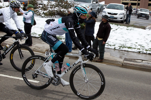 Literally in the last minute, the stage was cancelled. Here Andy Schleck heads back to his team hotel.