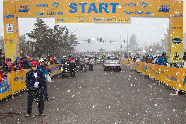 As the snow picks up yet again, it seems we're going to race; but without time splits being recorded. They'll race for position only...