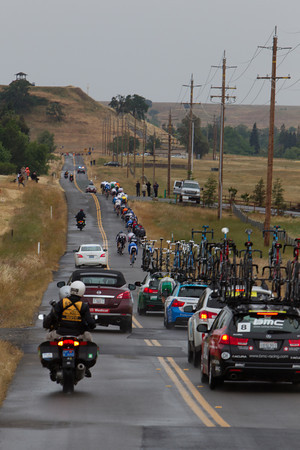 The route today wound around, up and over the small hills of central California.