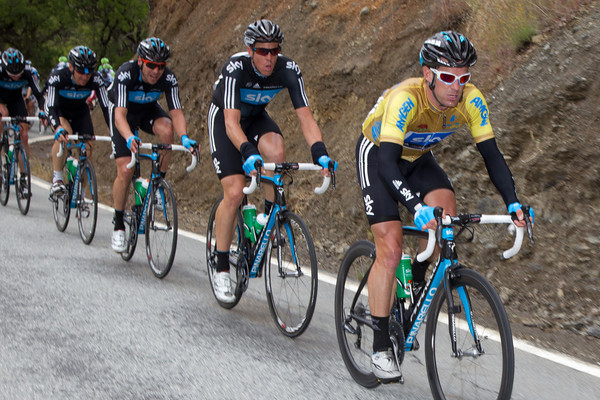 Henderson has worn the golden jersey well today, but he's no climber...