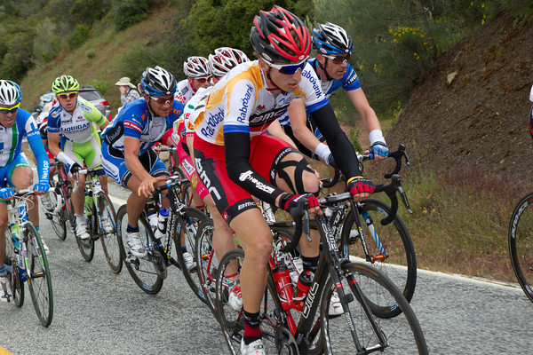 Back in the peloton, Taylor Phinney seems to be holding his own so far...