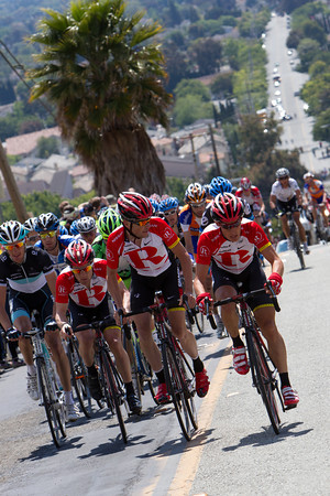 Busche is now tasked to set tempo for Horner and Leipheimer in pursuit of the last two riders up the road.