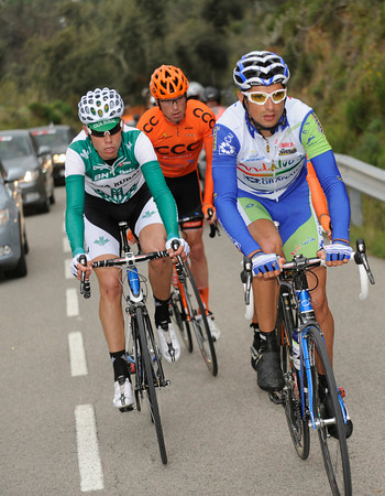 Jose Benitez led a four man escape on stage two - but today the peloton was not giving so much away...