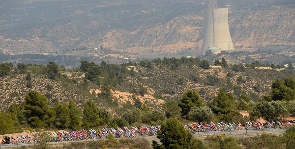 Stage five dawned bright and warm for the peloton...