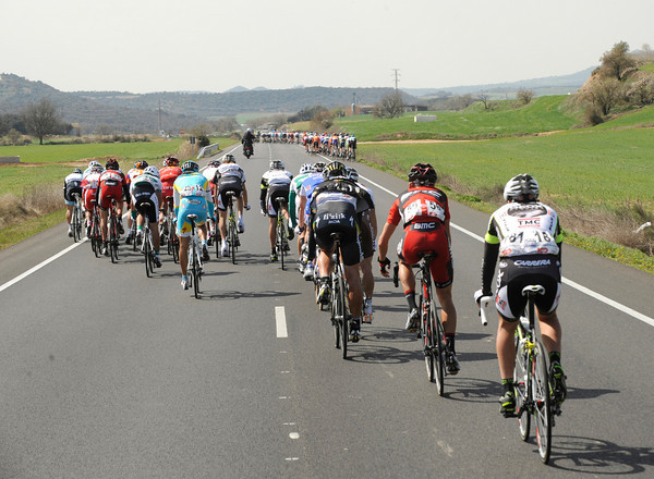 Riders like Evans and Sastre were caught out by a crash and some stiff winds along the way...