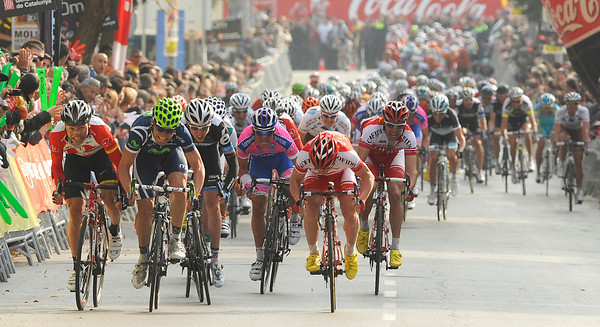 Another sprint finish in the Tour of Catalonia - but who can win this one..?