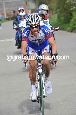 Chavanel has built almost a minute's lead with 50-kilometres to go...