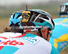 Philippe Gilbert is sporting a transmittor that enables TV viewers to listen to communications between rider and manager...