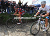 Thor Hushovd looks strong, but his face looks troubled...