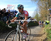 Gilbert has accelerated away from the peloton on the Koppenberg...