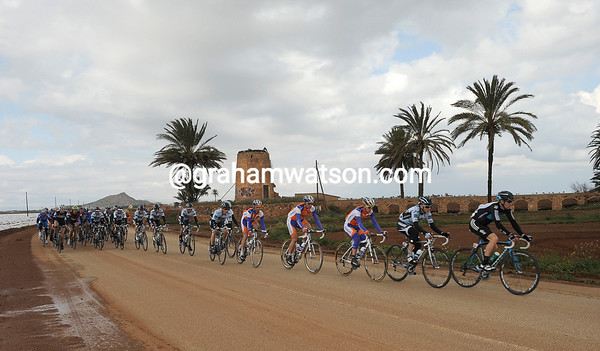 The Tour of Murcia passes along the southern coastline of Spain on its circular loop from San Pedro del Pinatar to Alhama de Murcia...