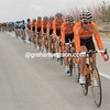 It is Anton's Euskatel team that tows the peloton at high speed...
