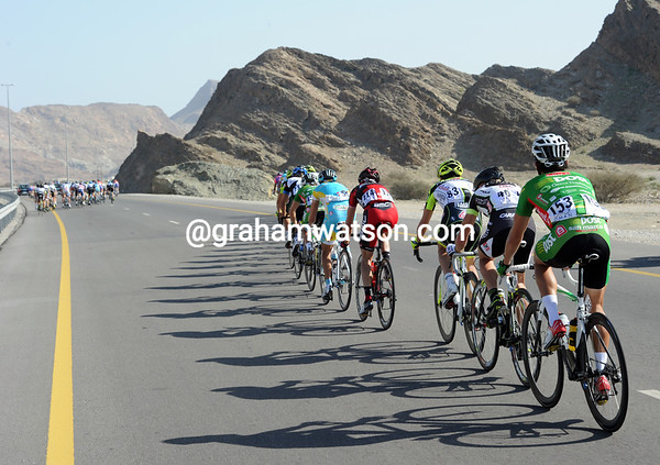 Up ahead, two groups are about to emerge to form a 67 rider peloton for the remainder of the stage...