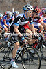 Christian Vande Velde rides next to Phinney as he makes his own way into the front group...