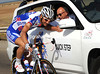 Tom Boonen  has plenty of time to chat with his team doctor behind the peloton - let HTC, Sky and Garmin do all the chasing..!