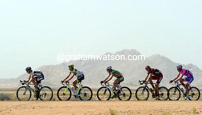 The five escapers are deep in desert country - and it's getting rather hot..!
