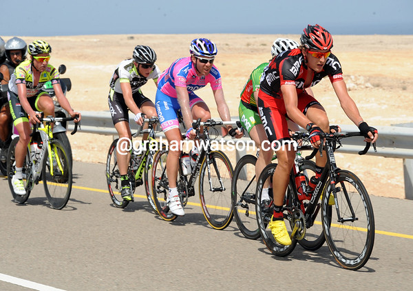 Five escapers are led away by Marcus Burghardt - they face a long day out in the desert..!