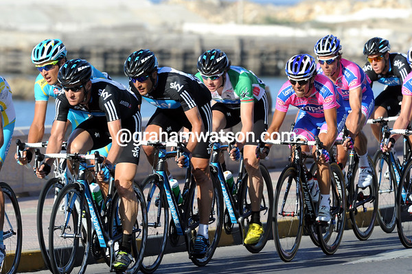 Team Sky are trying to set Boasson-Hagen up for the final sprint of the race...