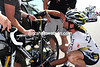 Cavendish is in control of HTC's measuring tape - a serious adjustment needs to be made before he can race properly...