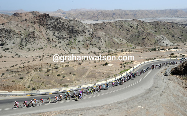 The peloton is in active pursuit, making a hard start to the day for many tired cyclists...