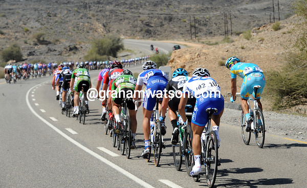 The pace has caused splits in the peloton...