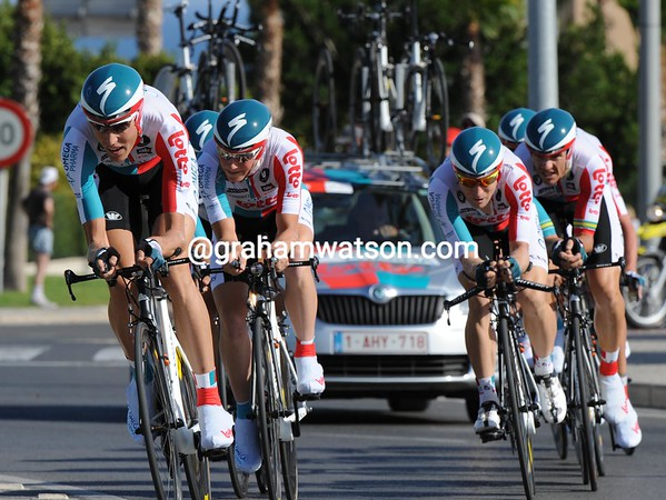 Omega Pharma-Lotto surprised everyone by taking 8th place at 18-seconds...