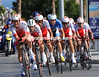 Cofidis raced into 17th place, 33-seconds down...