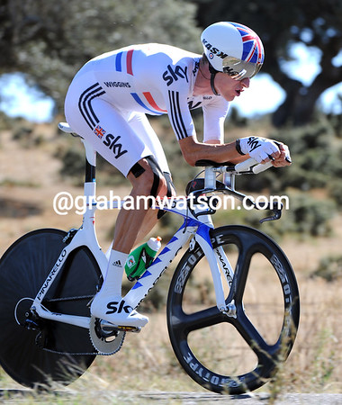 """Bradley Wiggins took 3rd at 1'22"""" to move into 3rd overall..."""