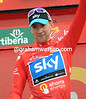 It takes a lot to make Bradley Wiggins smile - but he's smiling now as the new race-leader of the Vuelta..!