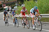 Adama Hansen is in the escape that has gained eight minutes in 50-kilometres...