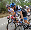 Daniel Martin can happily chat with his counter-part at Radio Shack, Matthew Busche...