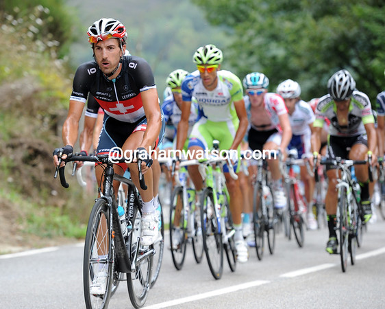 Fabian Cancellara is called in to try and restrict any more time-gains...